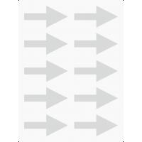 Markierungsaufkleber Pfeil 50 mm pro Blatt (10 Stück)