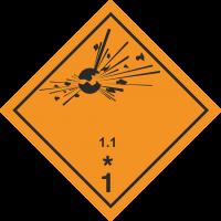 ADR 1.1 Explosiv Schilder