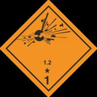 ADR 1.2Entzündliche Gase Schilder