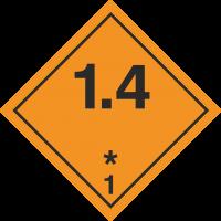 ADR 1.4 Entzündliche Gase Schilder