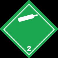 ADR 2 'Gase unter Druck' Schilder (weiß)