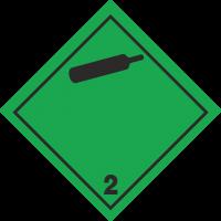 ADR 2 'Gase unter Druck' Schilder (schwarz)