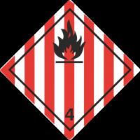 ADR 4 'Entzündliche Feststoffe' Schilder