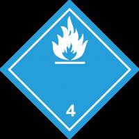 ADR 3 'Entzündliche Flüssigkeiten' Schilder (weiß )