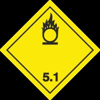 ADR 5 'Oxydierender Stoff' Schilder