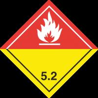 ADR 5 'Organische Peroxide' Schilder (weiß )