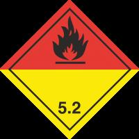 ADR 5 'Organische Peroxide' Schilder (schwarz)