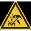 """Aufkleber """"Warnung vor Quetschgefahr der Hand zwischen Abkantpresse und Material"""""""