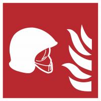 """Aufkleber """"Mittel und Geräte zur Brandbekämpfung"""""""