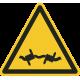 """Aufkleber """"Warnung vor Stacheldraht"""""""