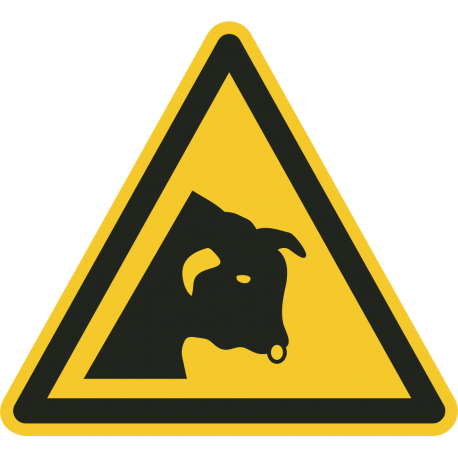 """Aufkleber """"Warnung vor dem Stier"""""""