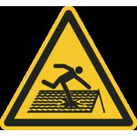 """Aufkleber """"Einsturzgefährdetes Dach"""""""