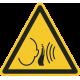 """Aufkleber """"Warnung vor unvermittelt auftretendem lauten Geräusch"""""""