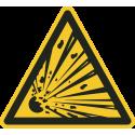 """Schilder """"Warnung vor explosionsgefährlichen Stoffen"""""""