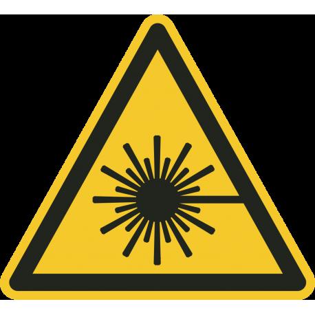 """Schilder """"Warnung vor Laserstrahlen"""""""
