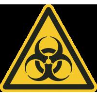 """Schilder """"Warnung vor Biogefährdung"""""""