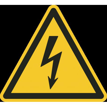 """Schilder """"Warnung vor elektrischer Spannung"""""""