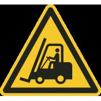 """Schilder """"Warnung vor Flurförderzeugen"""""""