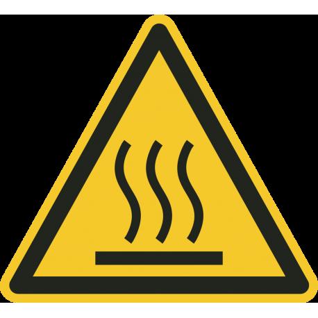 """Schilder """"Warnung vor heißer Oberfläche"""""""