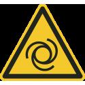 """Schilder """"Warnung vor automatischem Anlauf"""""""