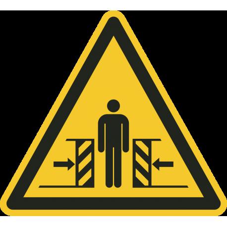 """Schilder """"Warnung vor Quetschgefahr"""""""