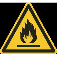 """Schilder """"Warnung vor feuergefährlichen Stoffen"""""""
