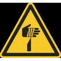 """Schilder """"Warnung vor spitzem Gegenstand"""""""