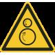 """Schilder """"Warnung vor gegenläufigen Rollen"""""""