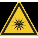 """Schilder """"Warnung vor optischer Strahlung"""""""