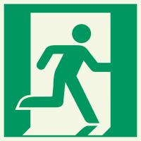 """Lumineszierenden Schilder """"Notausgang (rechts)"""""""