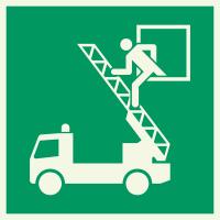 """Lumineszierenden Schilder """"Rettungsausstieg"""""""