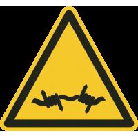 """Schilder """"Warnung vor Stacheldraht"""""""