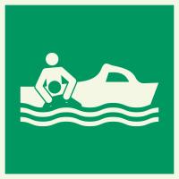"""Lumineszierenden Schilder """"Bereitschaftsboot"""""""