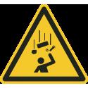 """Schilder """"Warnung vor herabfallenden Gegenständen"""""""