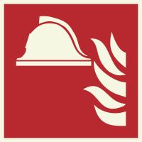 """Lumineszierenden Schilder """"Mittel und Geräte zur Brandbekämpfung"""""""