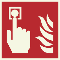 """Lumineszierenden Schilder """"Brandmelder"""""""
