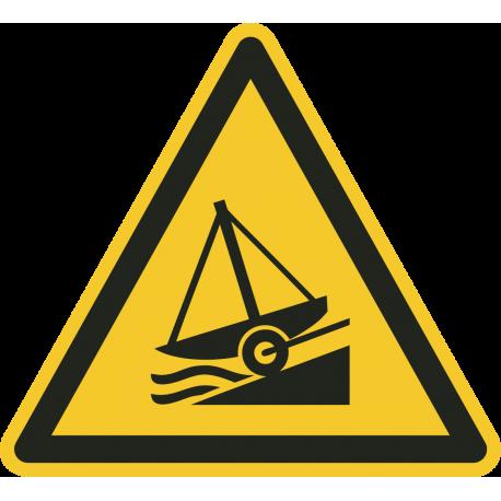 """Aufkleber """"Warnung vor Slipanlage"""""""