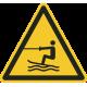 """Aufkleber """"Warnung vor Wasserski-Bereich"""""""