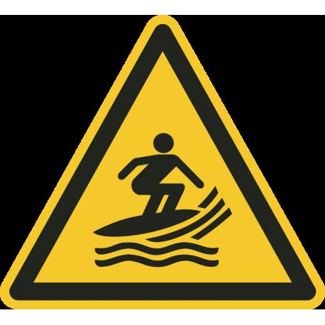"""Aufkleber """"Warnung vor Windsurfbereich"""""""