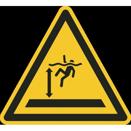 """Aufkleber """"Warnung vor tiefem Wasser"""""""