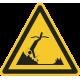"""Aufkleber """"Warnung vor Gegenständen unter Wasser"""""""