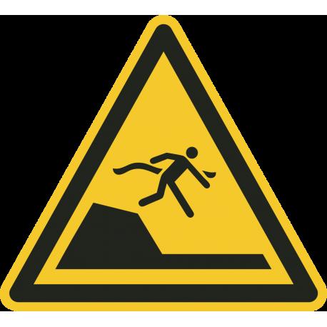 """Aufkleber """"Warnung vor unvermittelter Tiefenänderung in Schwimm- oder Freizeitbecken"""""""