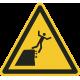 "Aufkleber ""Warnung vor instabiler Klippenkante"""