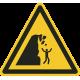 """Aufkleber """"Warnung vor Steinschlag von instabiler Klippe"""""""