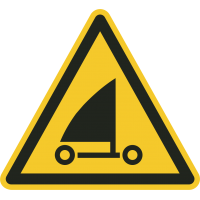 "Aufkleber ""Warnung vor Strandseglern"""