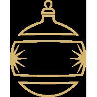 Weihnachtsdekorationsaufkleber (Golden Weihnachtskugeln)
