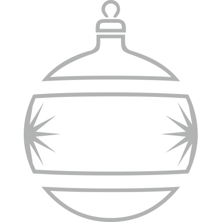 Weihnachtsdekorationsaufkleber (Silber Weihnachtskugeln)
