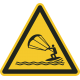 """Aufkleber """"Warnung vor Kitesurfern"""""""