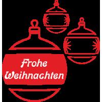 Weihnachtsdekorationsaufkleber (rote Weihnachtskugeln)