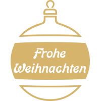 Weihnachtsdekorationsaufkleber Frohes Weihnachten (Golden Weihnachtskugeln)